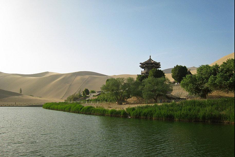 Crescent Lake Desert Oasis Dunhuang China 3b