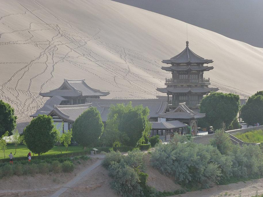 Crescent Lake Desert Oasis Dunhuang China 5b