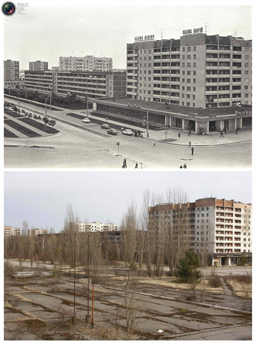chernobyl before after