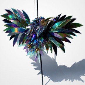 old cd sculptures