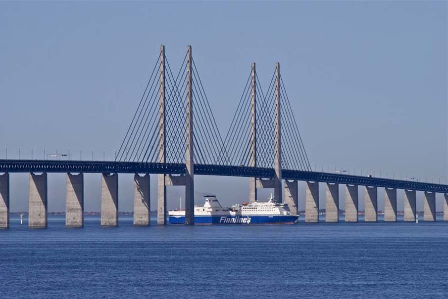 jembatan oresund lalu lintas kapal