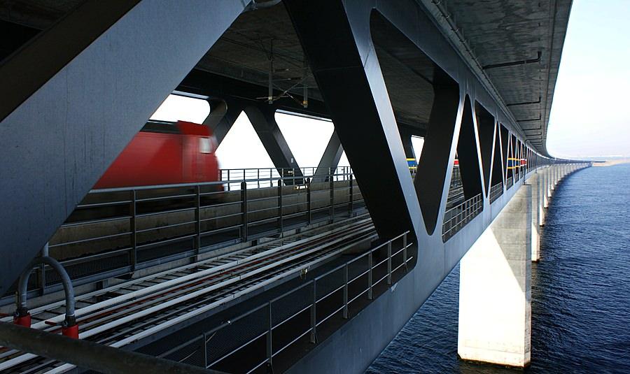 jembatan oresund lalu lintas kereta api