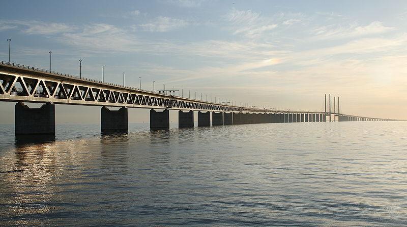 jembatan oresund sunset
