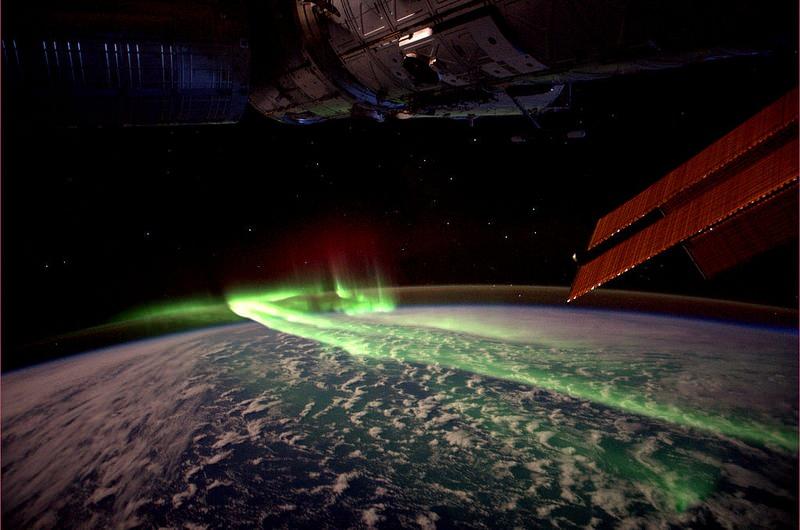 Southern Lights (Aurora Australis) between Antarctica and Australia