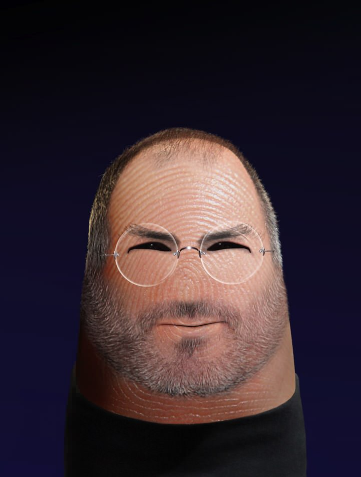 steve job finger art
