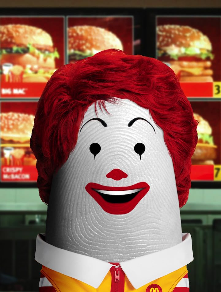 ronald mc d finger art