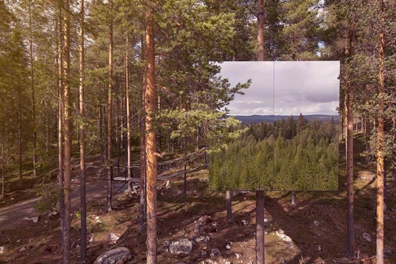 mirror cube hotel pohon swedia 4