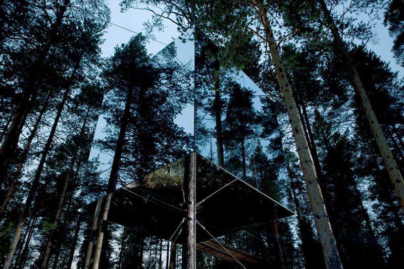 mirrorcube treehouse hotel pohon swedia 2