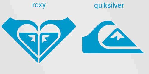 simbol tersembunyi dalam logo roxy quicksilver