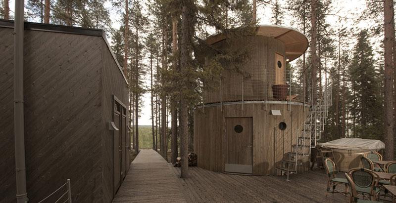 sauna hut hotel pohon swedia