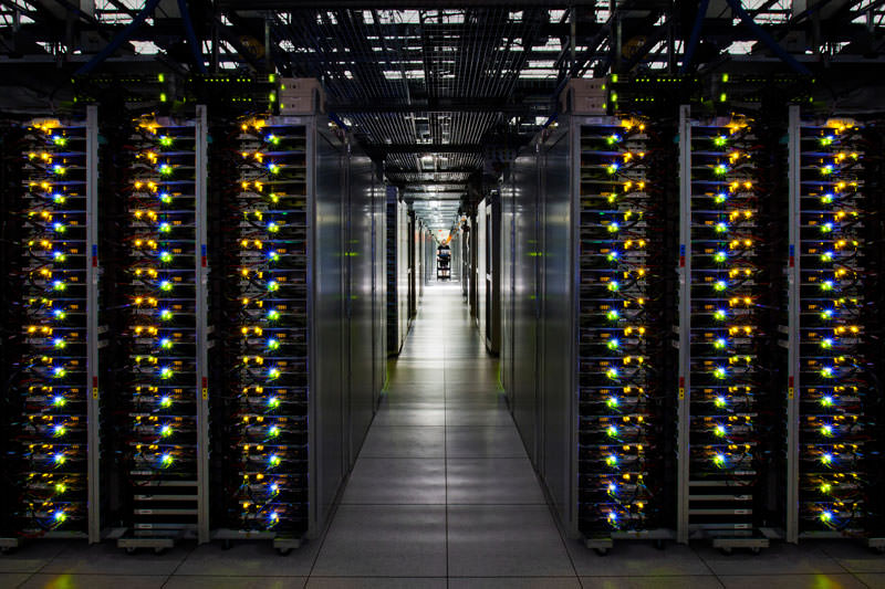 google data center server room county georgia