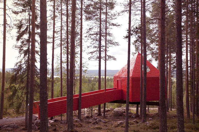 hotel pohon swedia blue cone