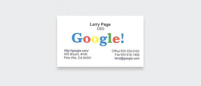 contoh kartu nama orang-orang terkenal 5