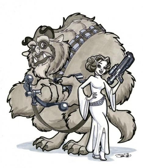 Karakter Disney dalam Star Wars 01