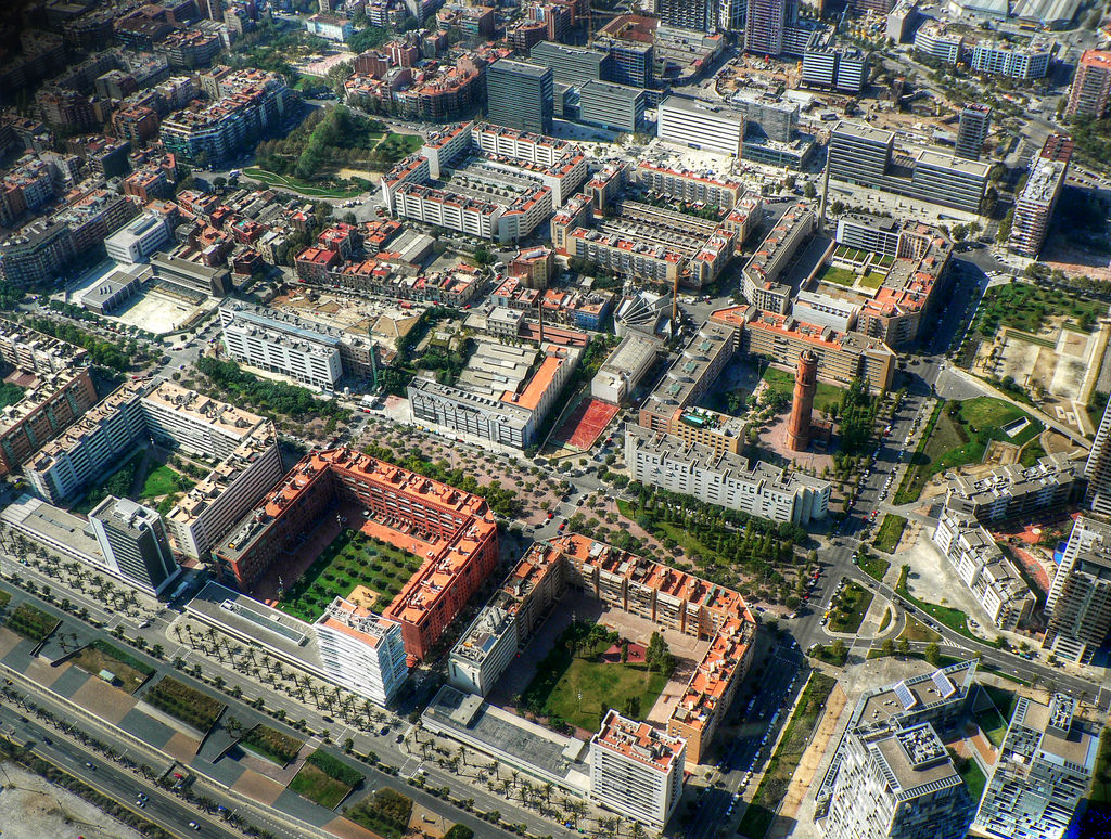 barcelona spain aerial view