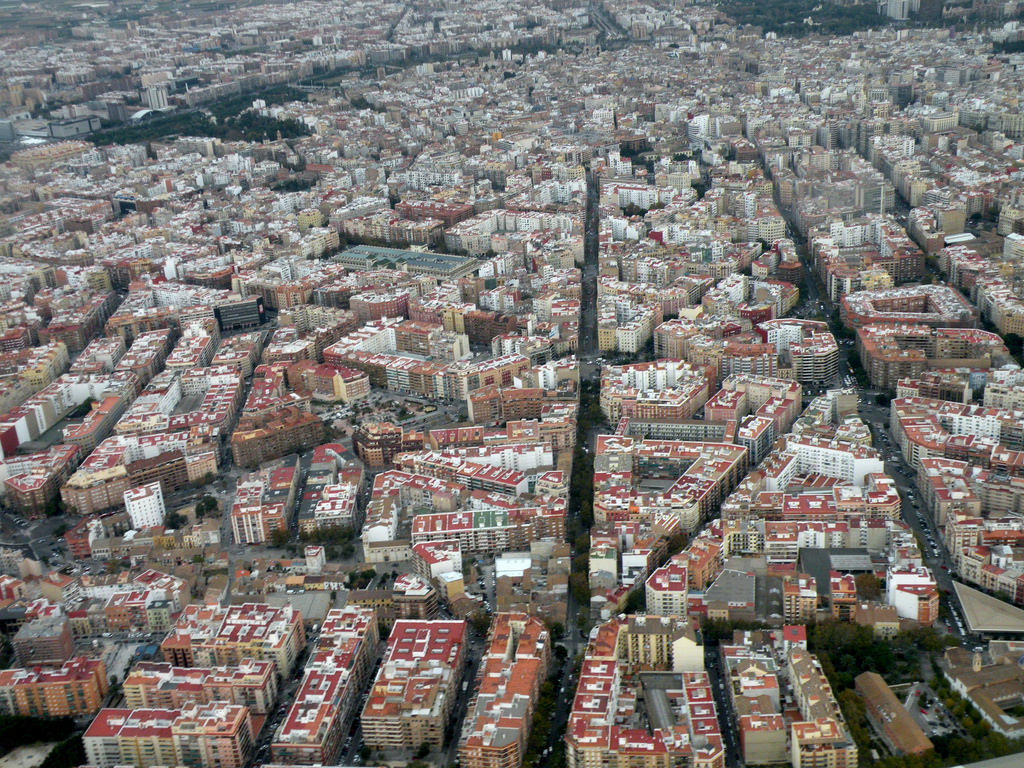 barcelona spain aerial view 3
