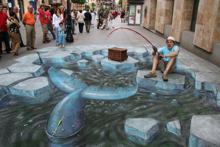 Julian Breever chalk 3d street art 2