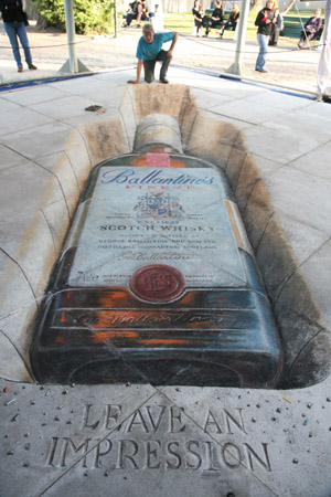 Julian Breever chalk 3d street art 4