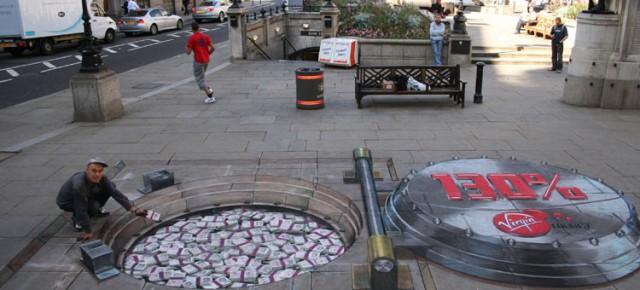 Seni Lukisan Jalanan 3 Dimensi Julian Beever yang Mengagumkan
