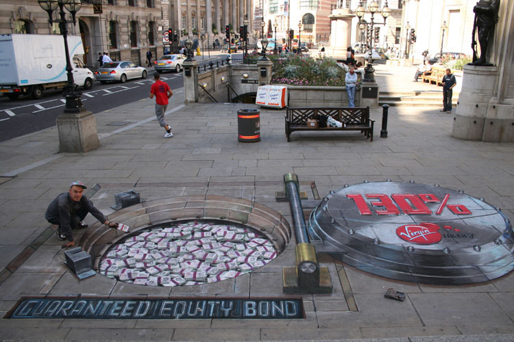 Julian Breever chalk 3d street art 5