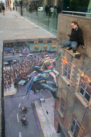 Julian Breever chalk 3d street art 6