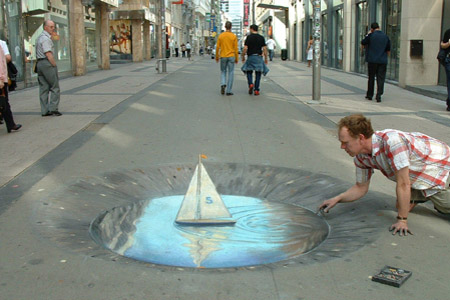 Julian Breever chalk 3d street art 7