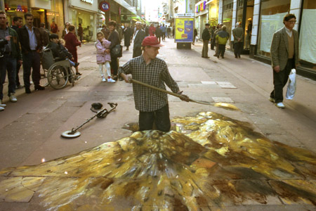 Julian Breever chalk 3d street art 12