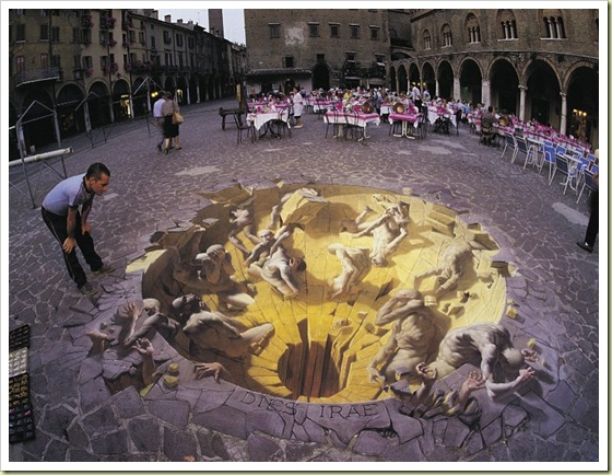 Julian Breever chalk 3d street art 14