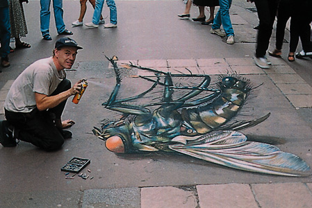 Julian Breever chalk 3d street art 16