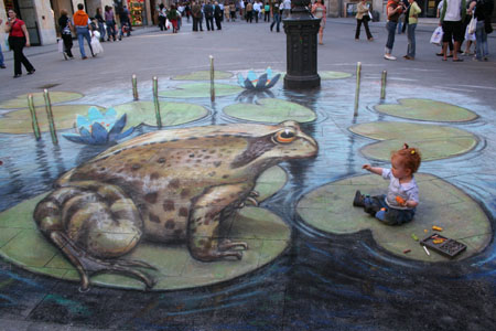 Julian Breever chalk 3d street art 17