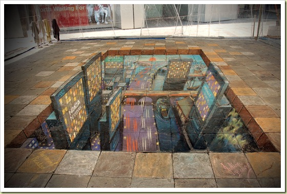 Julian Breever chalk 3d street art 24