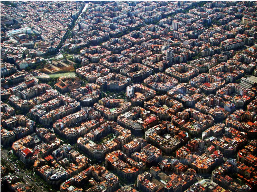 barcelona spain aerial view 5