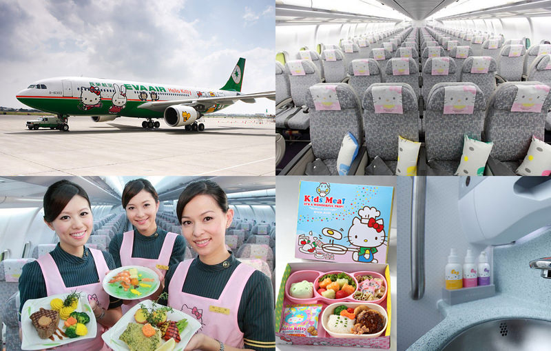 eva air hello kitty paint