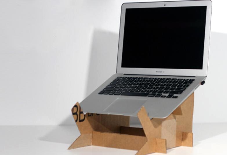 laptop stand kardus bekas