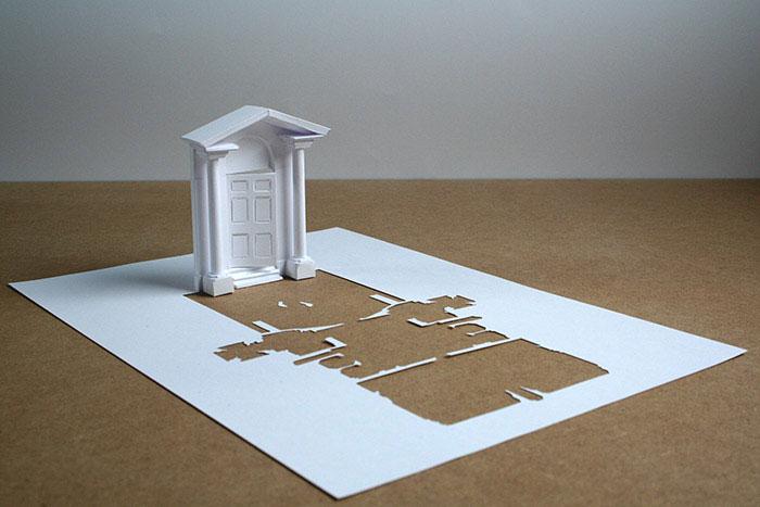 ini adalah karya-karya Callesen dengan menggunakan selembar kertas