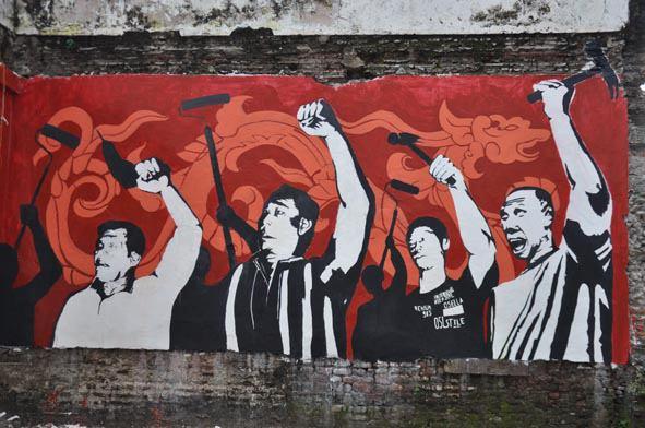 Mural kampung oasis di tengah tengah komersialisasi ruang for Mural indonesia