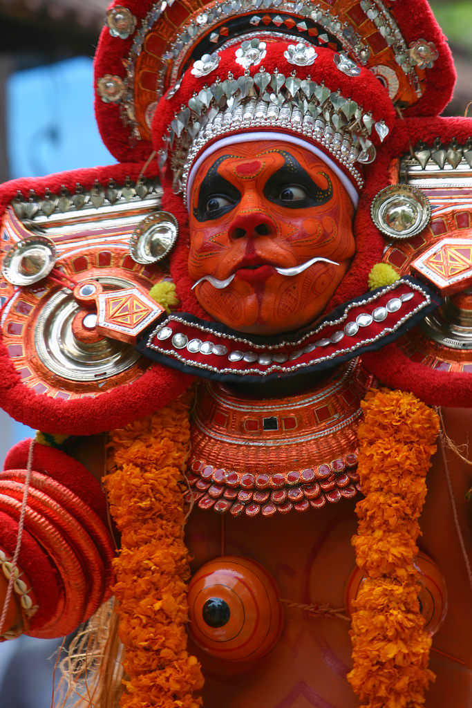 theyyam dance tarian tradisional india 5