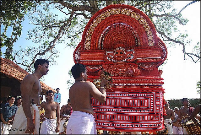 theyyam dance tarian tradisional india 10