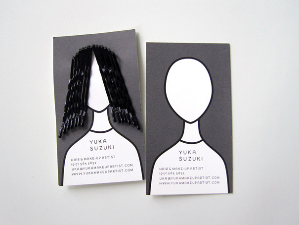 Contoh desain kartu nama kreatif hair stylish