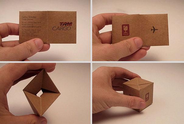 Contoh desain kartu nama kreatif kotak