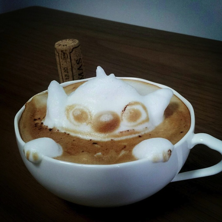 3d coffe latte art 4