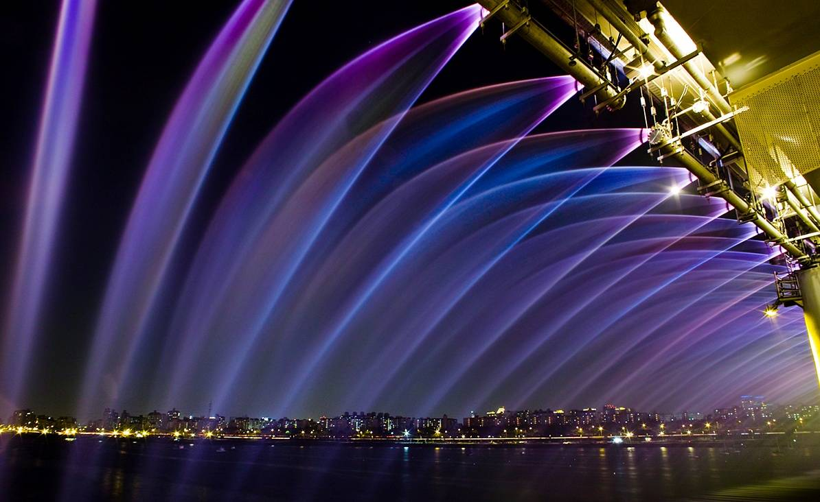 jembatan banpo rainbow moonlight rainbow fountain 12