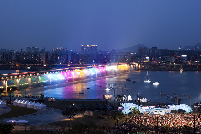 jembatan banpo rainbow moonlight rainbow fountain 2