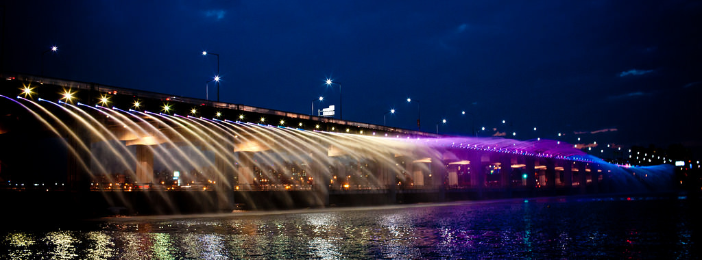 jembatan banpo rainbow moonlight rainbow fountain 3