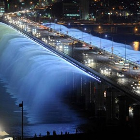 jembatan banpo rainbow moonlight rainbow fountain 6