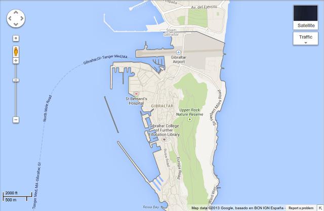 Gilbraltar Airport Map