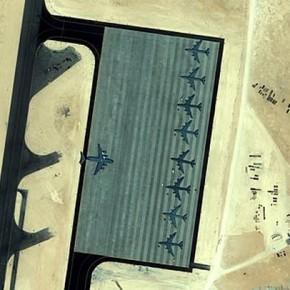 foto mata-mata pangkalan militer AS di Qatar