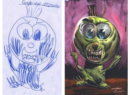 lukisan anak-anak oleh orang dewasa 10