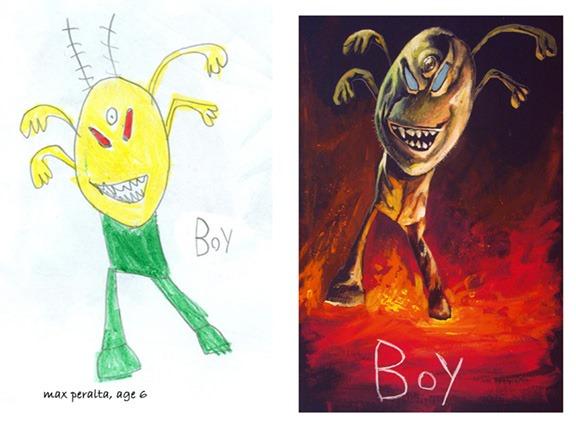 lukisan anak-anak oleh orang dewasa 15