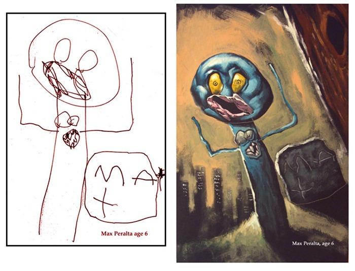 lukisan anak-anak oleh orang dewasa 16